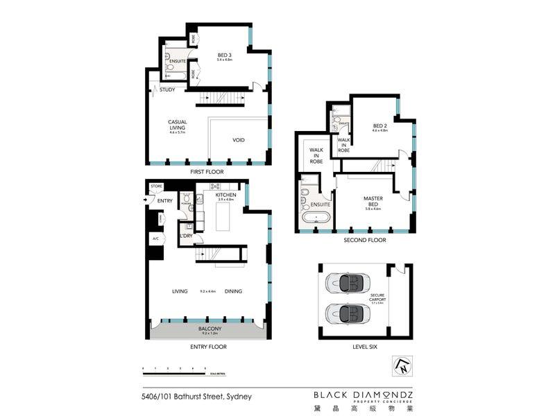 5406/101 Bathurst Street, Sydney, NSW 2000 - floorplan