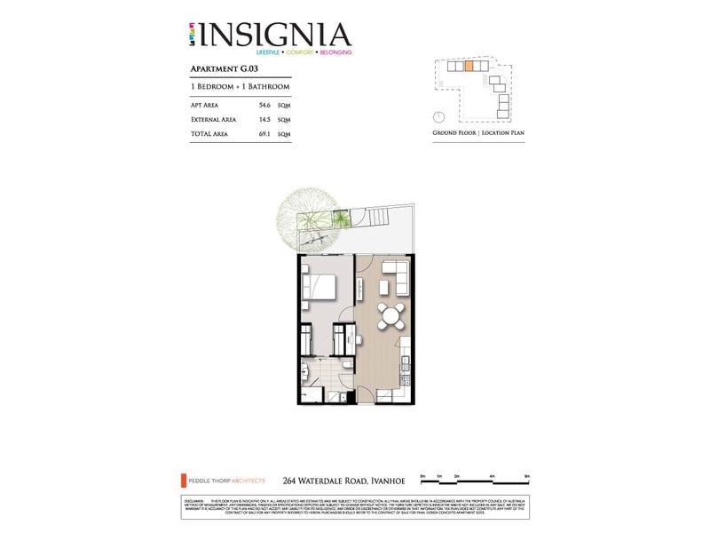 3/264 Waterdale Road, Ivanhoe, Vic 3079 - floorplan