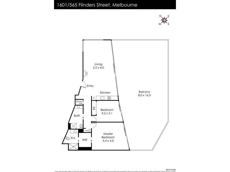 1601/565 Flinders Street, Melbourne, Vic 3000 - floorplan