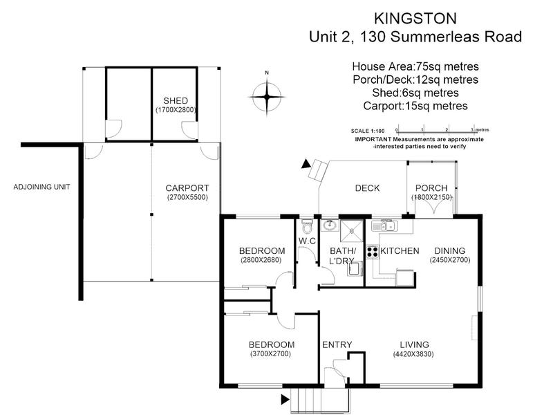 2/130 Summerleas Road, Kingston, Tas 7050 - floorplan