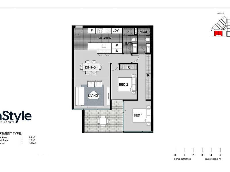 42/45 West Row Street, City, ACT 2601 - floorplan