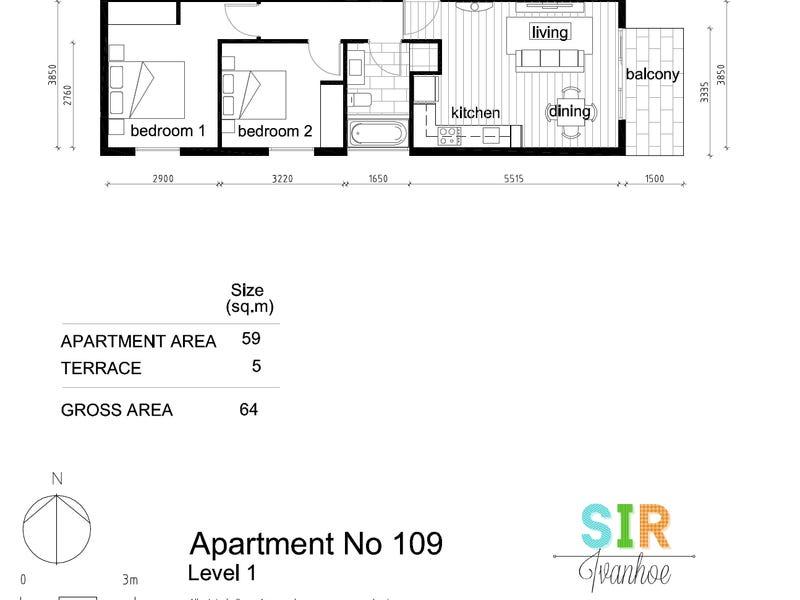109/979 Heidelberg Rd, Ivanhoe, Vic 3079 - floorplan