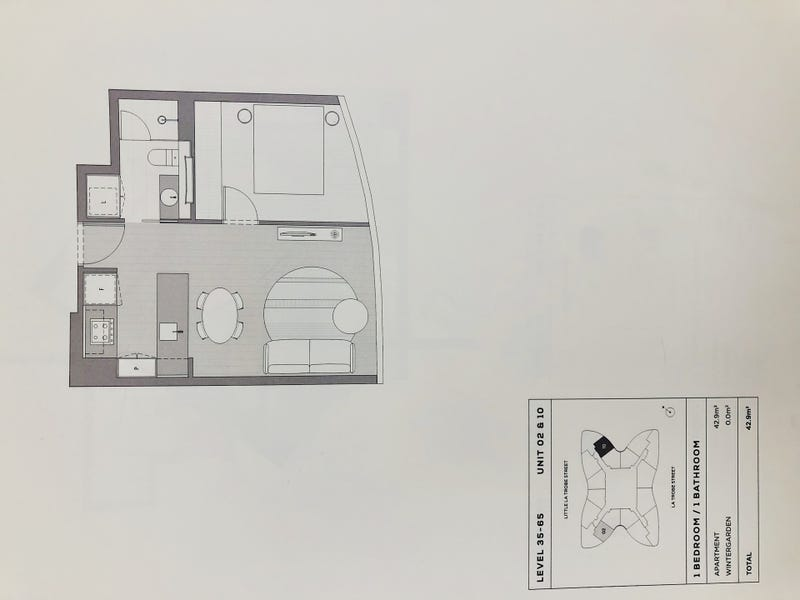 Level 43/224 La Trobe, Melbourne, Vic 3000 - floorplan
