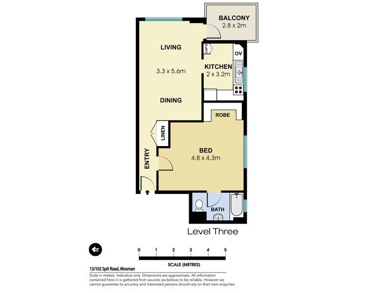13/102 Spit Road, Mosman, NSW 2088 - floorplan