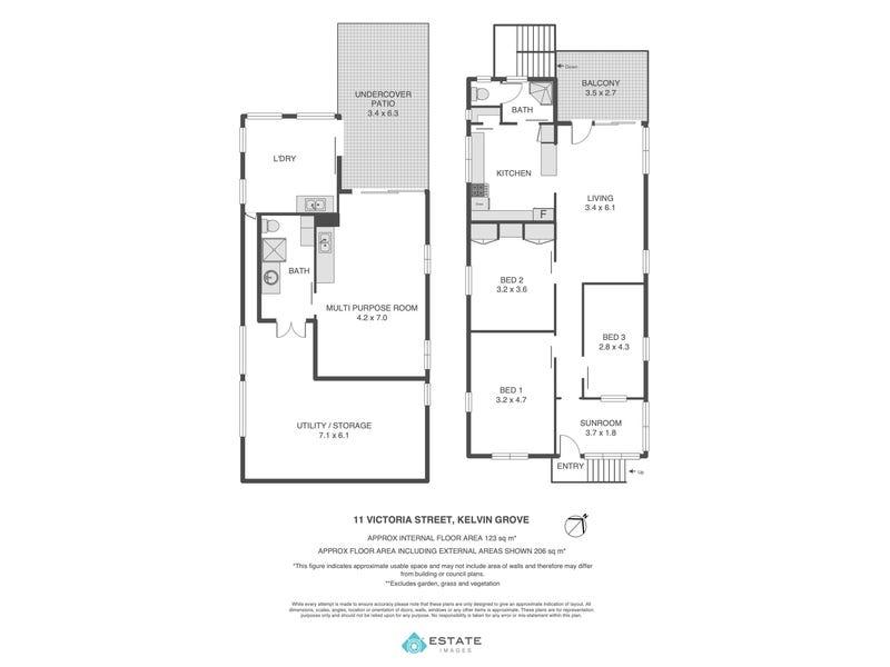11 Victoria Street, Kelvin Grove, Qld 4059 - floorplan
