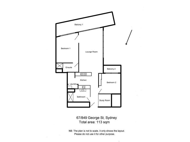 67/849 George St, Sydney, NSW 2000 - floorplan