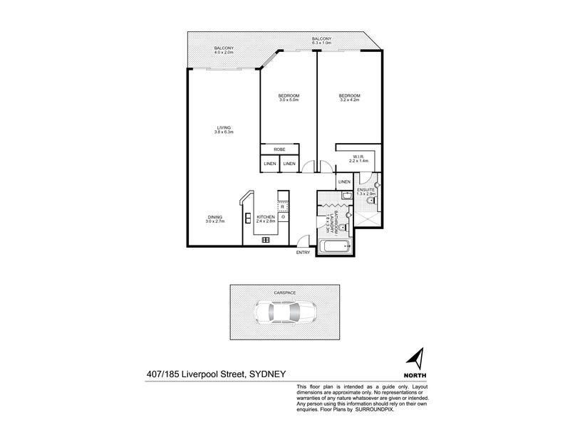 407/185 Liverpool Street, Sydney, NSW 2000 - floorplan