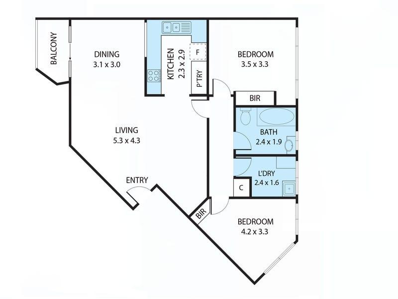 10/7 Medley Street, Chifley, ACT 2606 - floorplan