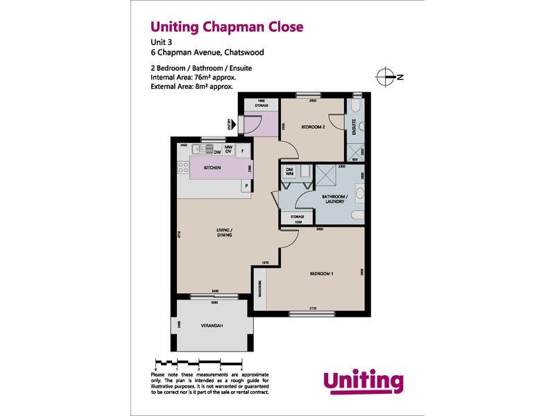 3/6 Chapman Avenue, Chatswood, NSW 2067 - floorplan