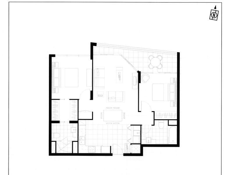 1132/56 Scarborough Street, Southport, Qld 4215 - floorplan