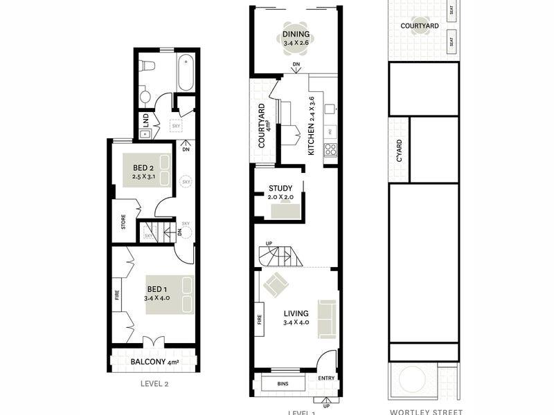 45 Wortley Street, Balmain, NSW 2041 - floorplan