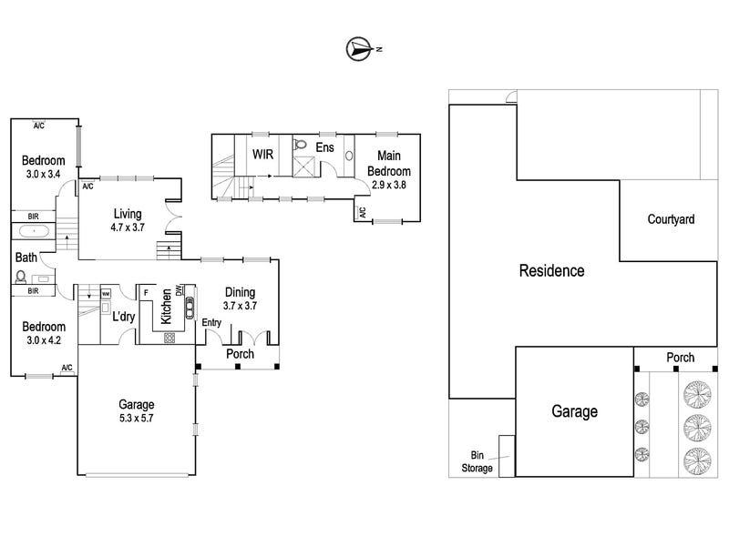 3/27 Forster Street, Ivanhoe, Vic 3079 - floorplan
