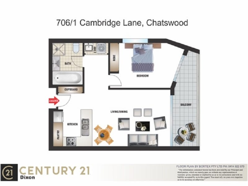 706/1 Cambridge Lane, Chatswood, NSW 2067 - floorplan