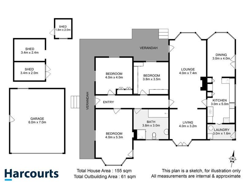 1302 Cygnet Coast Road, Lower Wattle Grove, Tas 7109 - floorplan