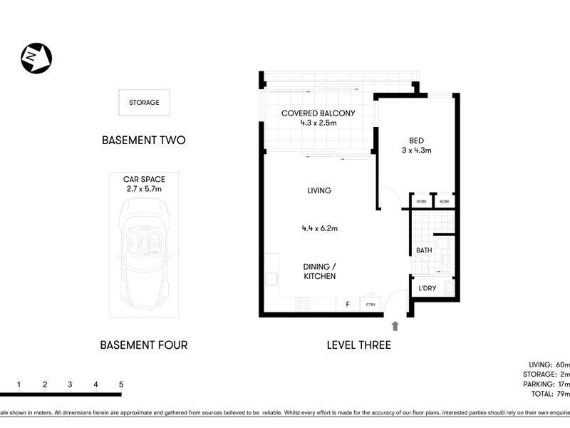 304/52 Hercules St, Chatswood, NSW 2067 - floorplan