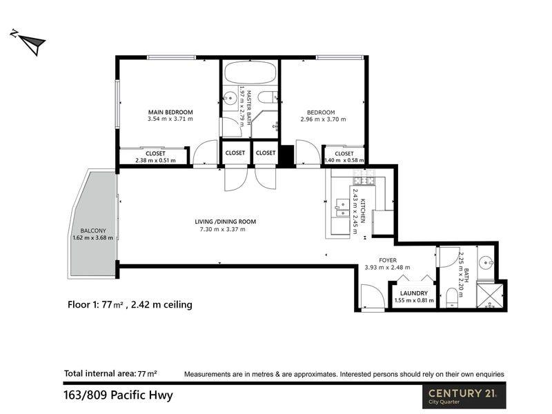 163/809 Pacific Highway, Chatswood, NSW 2067 - floorplan
