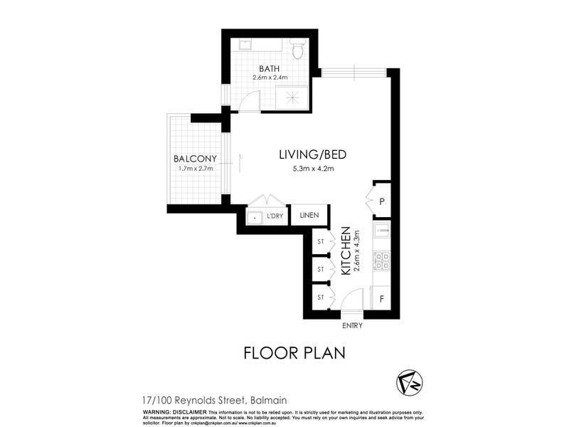 17/100 Reynolds Street, Balmain, NSW 2041 - floorplan