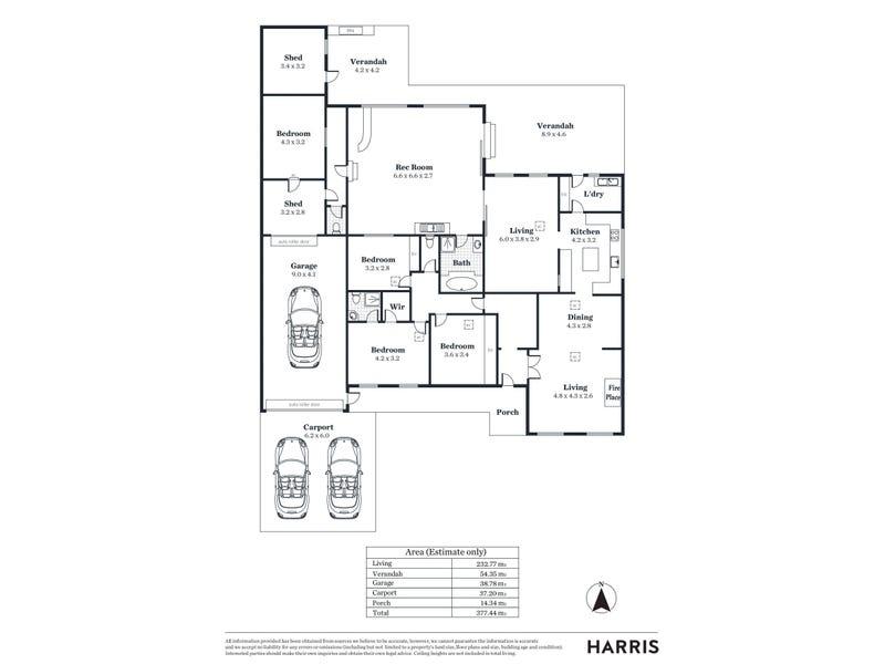 16 Sandison Road, Hallett Cove, SA 5158 - floorplan