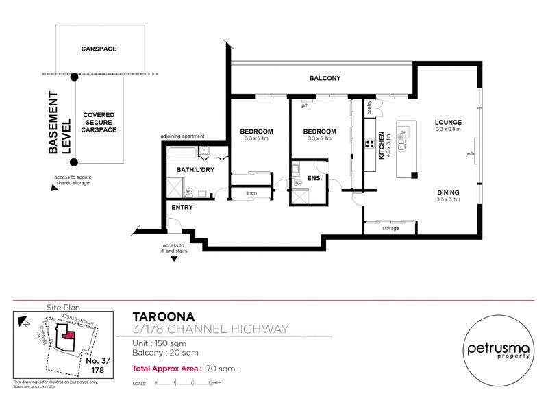 3/178 Channel Highway, Taroona, Tas 7053 - floorplan