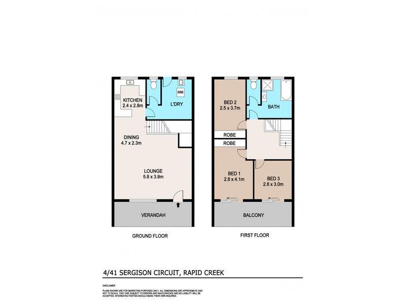 4/41 Sergison Circuit, Rapid Creek, NT 0810 - floorplan