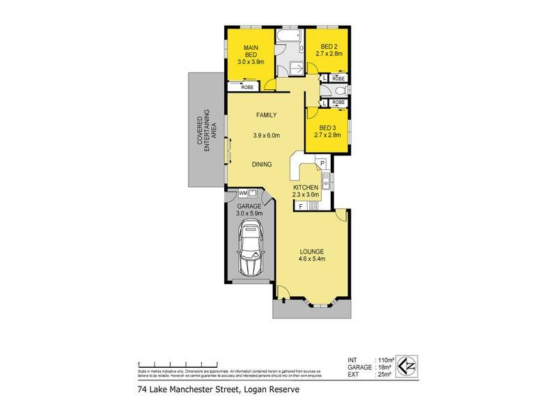 74 Lake Manchester Street, Logan Reserve, Qld 4133 - floorplan