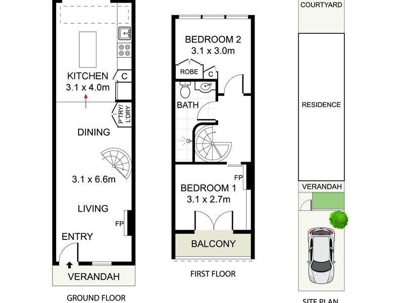 6 Elizabeth Place, Paddington, NSW 2021 - floorplan