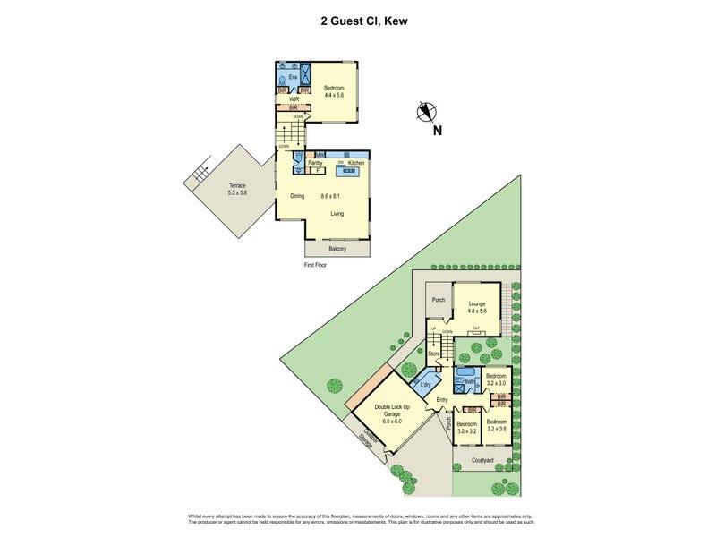 2 Guest Close, Kew, Vic 3101 - floorplan