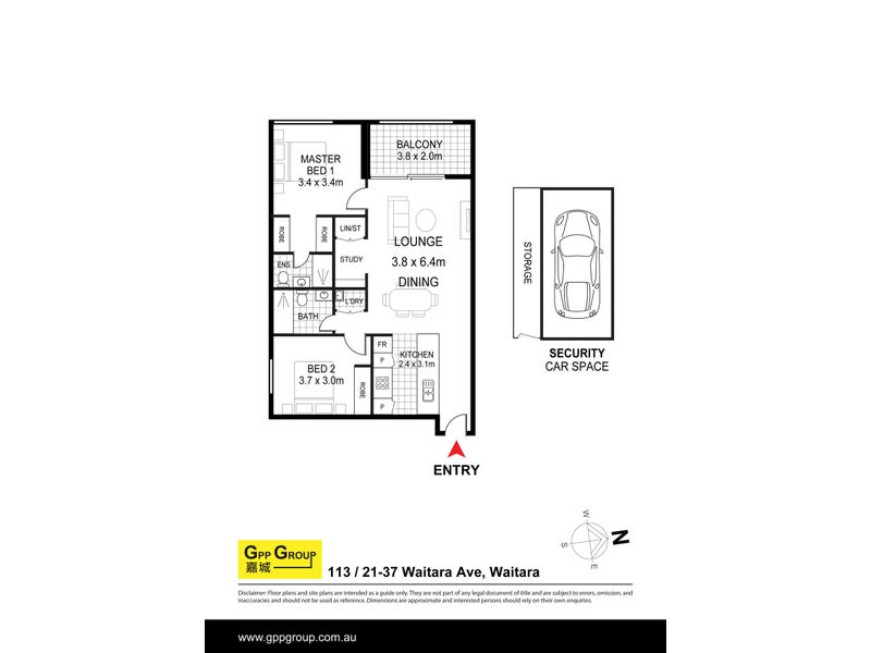 113/21-37 Waitara Ave, Waitara, NSW 2077 - floorplan