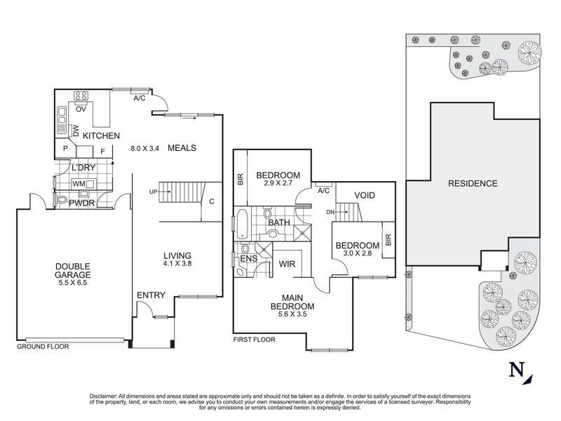 2/55 Lincoln Drive, Bulleen, Vic 3105 - floorplan