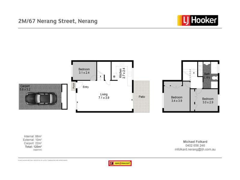 2 Marigold Court/67 Nerang Street, Nerang, Qld 4211 - floorplan