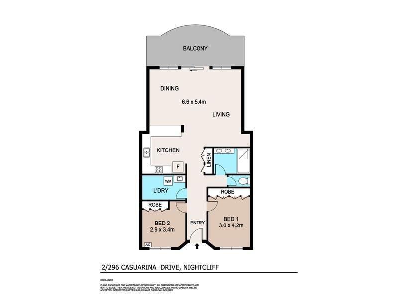 2/296 Casuarina Drive, Rapid Creek, NT 0810 - floorplan