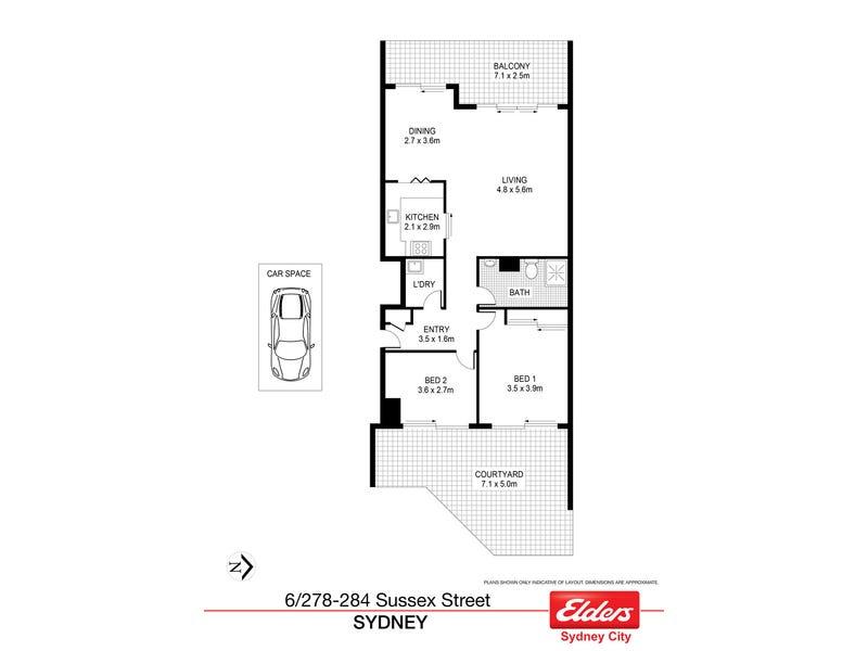 6/278-284 Sussex Street, Sydney, NSW 2000 - floorplan