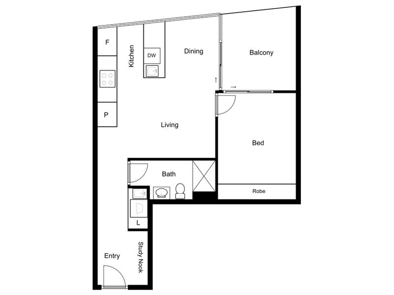 405/15 Bowes Street, Phillip, ACT 2606 - floorplan