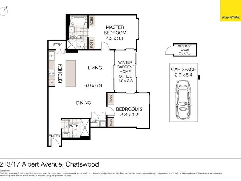 213/17 Albert Avenue, Chatswood, NSW 2067 - floorplan