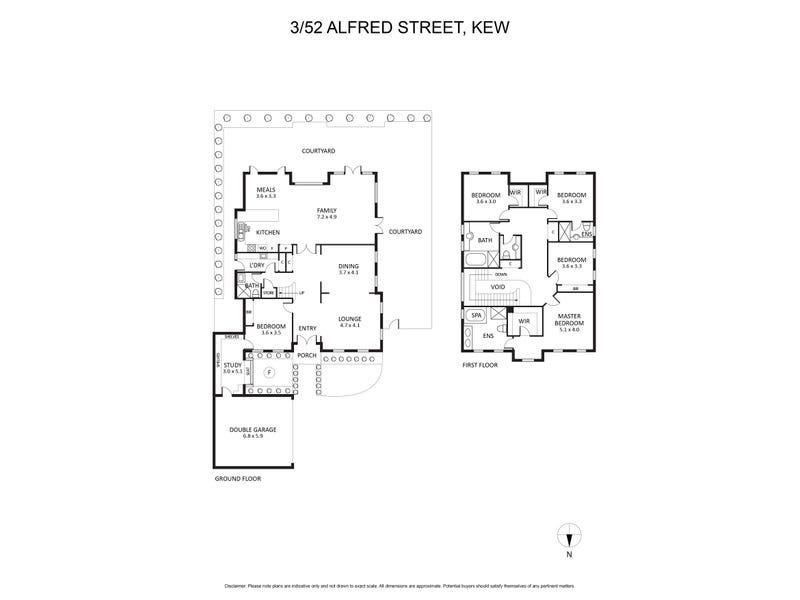 3/52 Alfred Street, Kew, Vic 3101 - floorplan