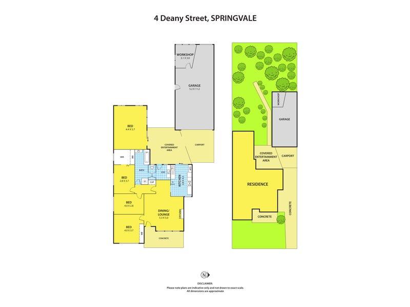 4 Deany Street, Springvale, Vic 3171 - floorplan