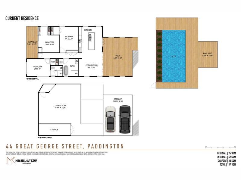 44 Great George Street, Paddington, Qld 4064 - floorplan