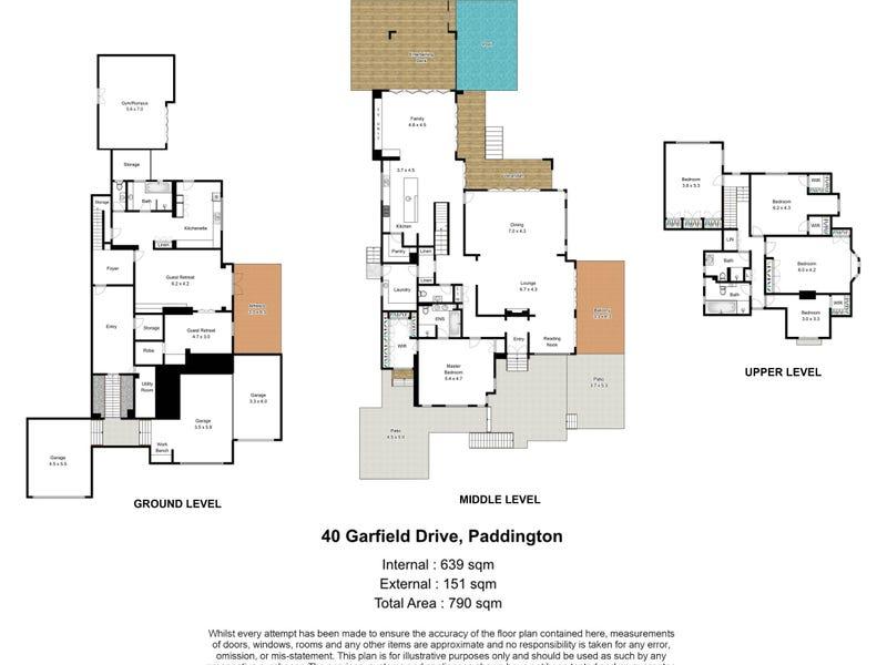 40 Garfield Drive, Paddington, Qld 4064 - floorplan