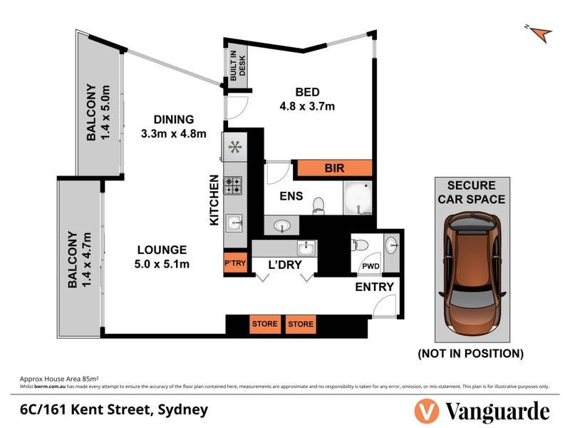 6C/161 Kent Street, Sydney, NSW 2000 - floorplan