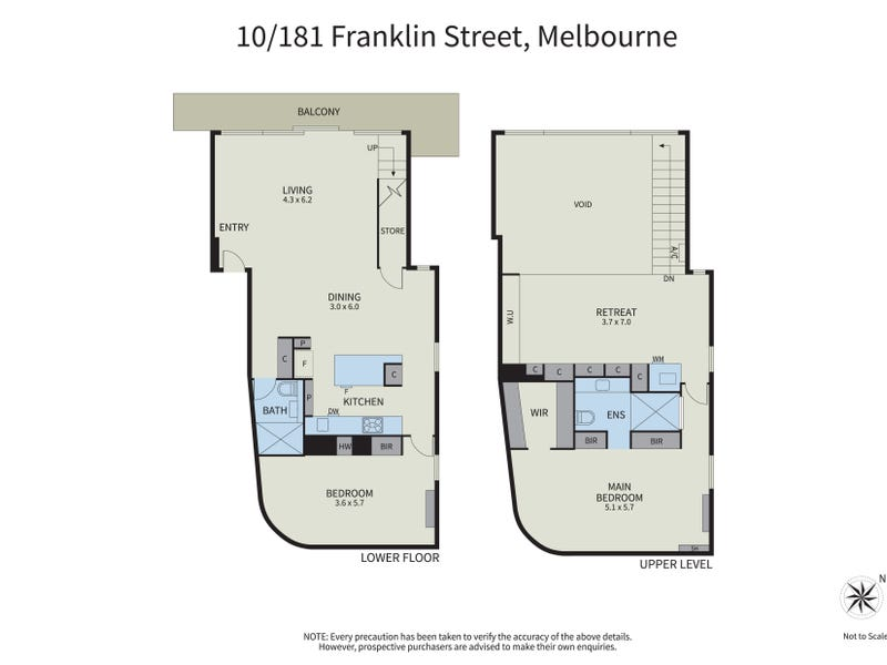 10/181 Franklin Street, Melbourne, Vic 3000 - floorplan