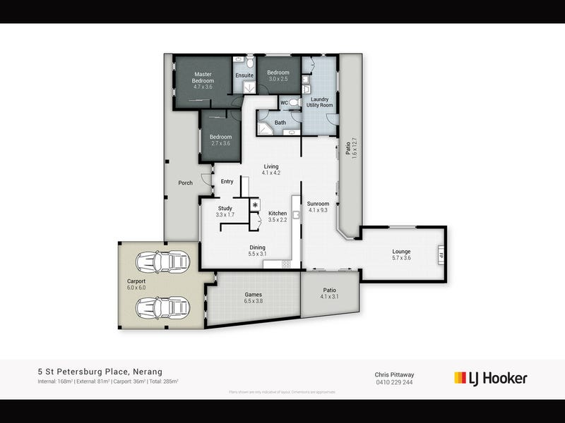 5 St Petersburg Place, Nerang, Qld 4211 - floorplan