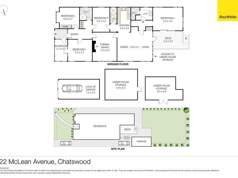 22 McLean Avenue, Chatswood, NSW 2067 - floorplan