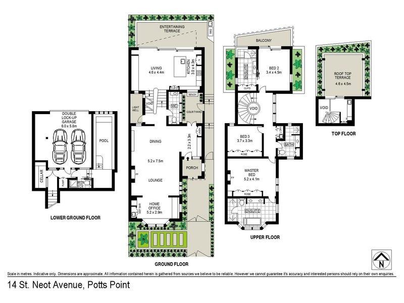 14 St Neot Avenue, Potts Point, NSW 2011 - floorplan