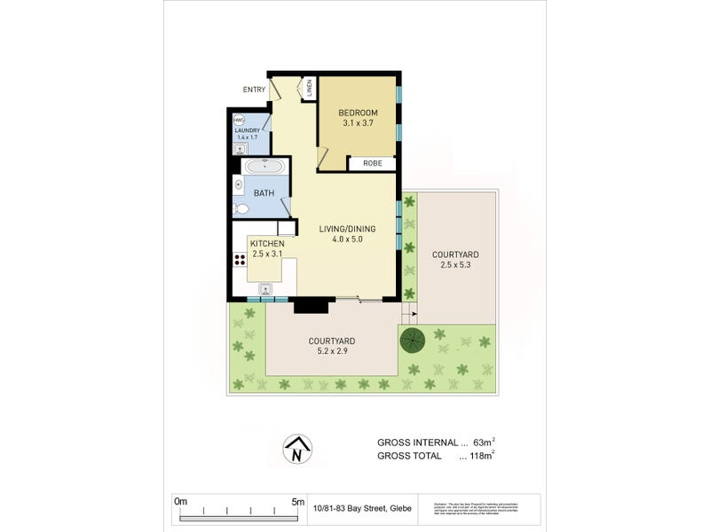 Unit 10/81-83 Bay Street (enter via Queen St), Glebe, NSW 2037 - floorplan