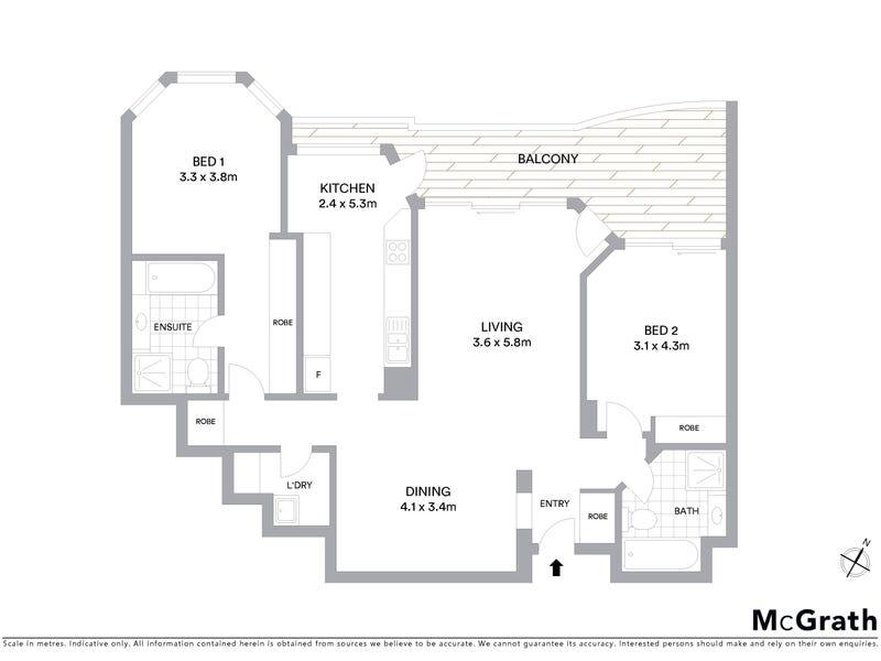 2205/37 Victor Street, Chatswood, NSW 2067 - floorplan