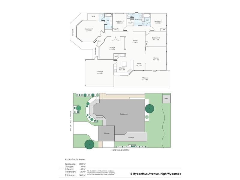 19  Hybanthus Avenue, High Wycombe, WA 6057 - floorplan