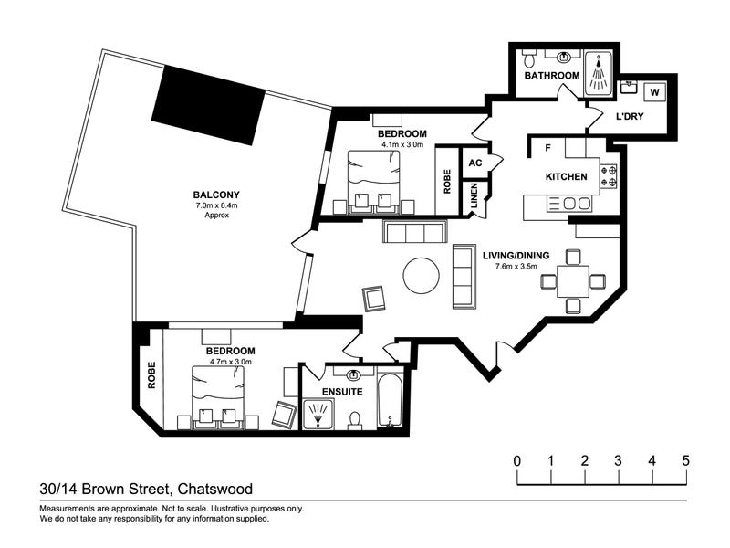 30/14 Brown Street, Chatswood, NSW 2067 - floorplan