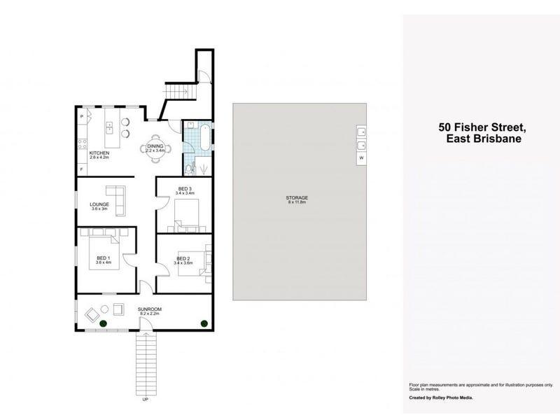 50 Fisher Street, East Brisbane, Qld 4169 - floorplan