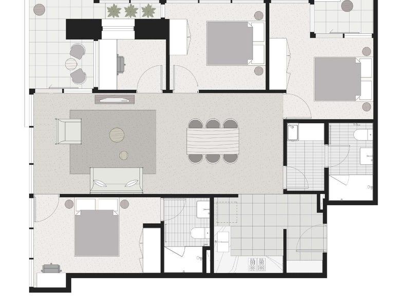 3303/500 Elizabeth Street, Melbourne, Vic 3000 - floorplan