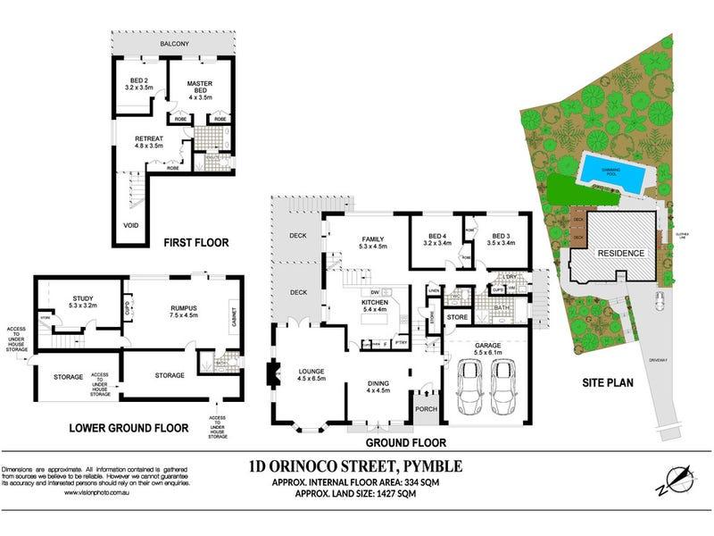 1D Orinoco Street, Pymble, NSW 2073 - floorplan
